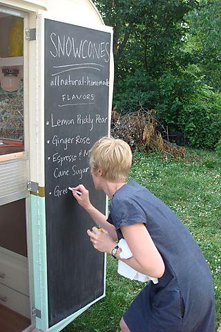 Lindsay and her menu