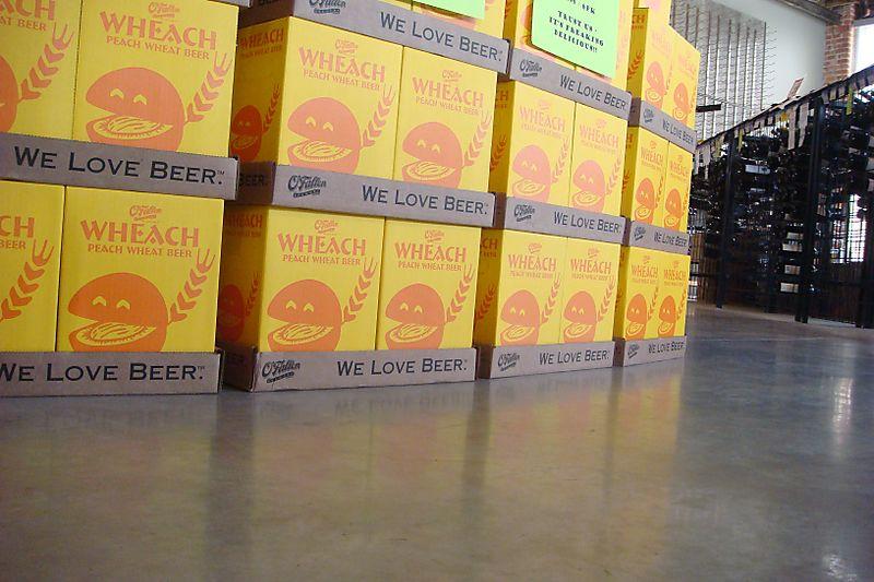 Wheach Peach Beer Floor Stack
