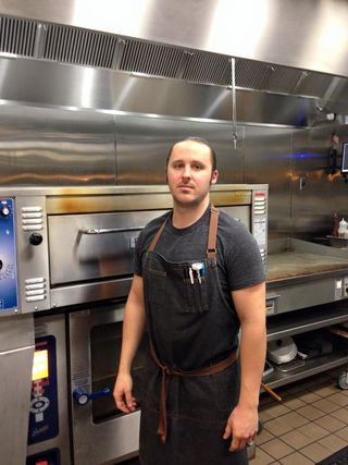 Chef Kyle Williams in his home kitchen at BCBS