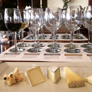 Green Direct Farms paired their cheeses with one white and one red wine.