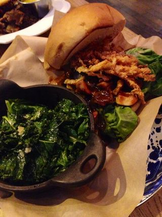 Mushroom Sloppy Joe & Kale side