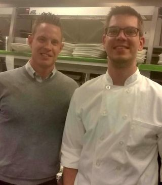 Eric Willey, Managing Partner for Cleaver & Cork and Executive Chef Andrew Heimburger