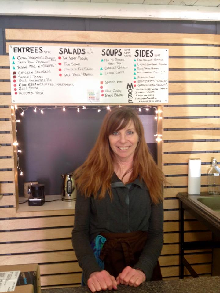 Owner, Kathy Hale opened this grab-n-go eatery for her Pilates students and it grew from there