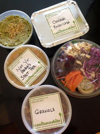 Canihaveabite offering sides, entrees, soups, salads and cereal