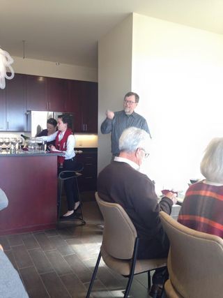 Jerry Eisterhold, owner of Vox Vineyards speaks about each wine in their new Tasting Room open by appointment only